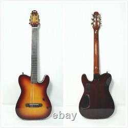 Haze MRC601EQCS Nylon String Electric Guitar, Solid Mahogany, Piezo Pickup+Gig Bag