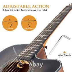 Horse 41 Inch Acoustic Guitar Top Spruce with Bag Tuner Strap Picks String Capo