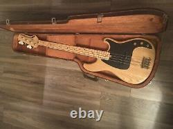 Ibanez Blazer custom bass series 1982 Ash body 4 string Japan with hard case