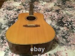 Japan Vintage 1977 Takamine 6 string Lawsuit Era acoustic guitar with case