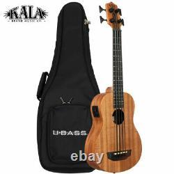 Kala U-BASS NOMAD Mahogany Acoustic Electric Bass Ukulele with Padded Bag