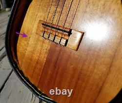 Kamaka Tenor Koa Ukulele Uke Vintage white label 69-77