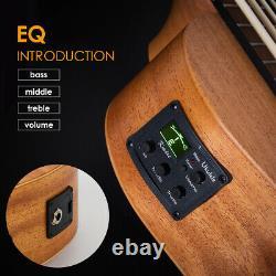 Kmise Bass Ukulele UBass Ukelele Mahogany Aquila EADG with EQ Padded Gig Bag