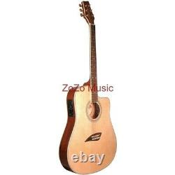 Kona K2 Thin Body 6-String Acoustic Electric Guitar, Natural