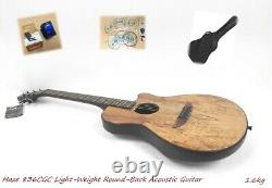Light-Weight Haze 836CGC Round-Back Acoustic/Classical Guitar, Spalted Maple Top