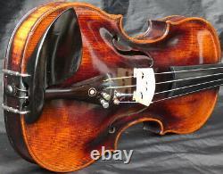 Listen to Video! TOP 4/4 Antique German Violin Jacobus Steiner 19th Fiddle