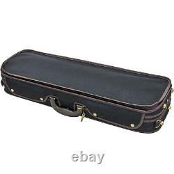 Luxury Euro-Style 4/4 Violin Case Oblong Blk/Maroon