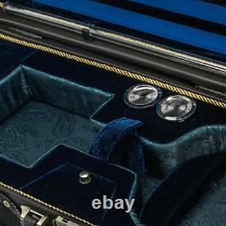 Luxury Euro-Style 4/4 Violin Case Oblong Solid Wood