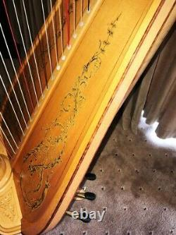 Lyon & Healy Style 23 Pedal Harp 47 Strings + Indoor, transport Covers, trolley