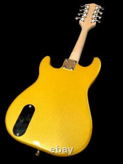 Mandolins-new Pro Style Golden Finish Electric Solid Body Mandolin