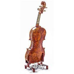Mastero Sound 4/4 Size New VN431 Bird Eye Maple Violin Kit w Case Bow Rosin Mute