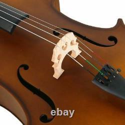 Matte Golden 4/4 Matt Basswood Acoustic Cello +Bag +Bow +Rosin +Bridge