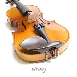 Mendini Full Size 4/4 Ebony Solidwood Violin +tuner+book+setup+bows
