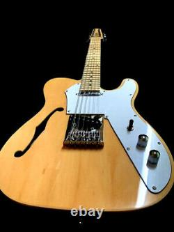 New 12 String Semi-hollow Natural Thinline Tele Style Electric Guitar