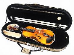 New 4/4 Enhanced/Moon Shape Designed Violin Case(VC820PL) + violin string #1