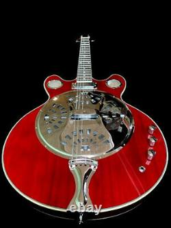 New 6 String Acoustic/electric Resonator Guitar With Cone Spider Dual Pickup