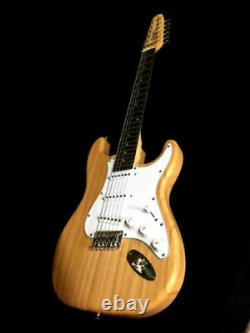 New Concert Strat Style 12 String Electric Guitar Natural Finish-great Action