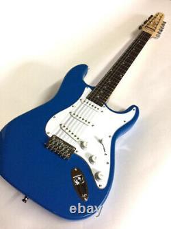 New Custom Strat Style 12 String Vintage Pelham Blue Electric Guitar