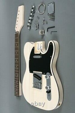 New Diy 6 String Tele-style Full Size Concert Electric Guitar Builder Kit