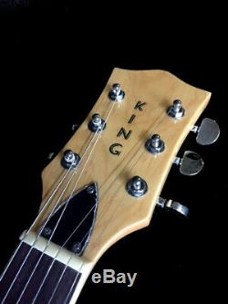 New Es-style 6 String P-90 Semi Hollow Electric Guitar Vintage Natural Finish