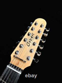 New Metalic Blie 12 String Solid Body Cozart St Style Electric Guitar