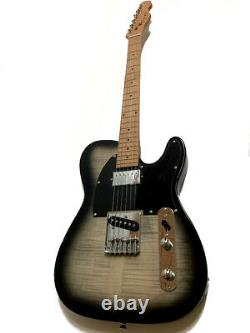 New Roasted Maple 6 String Tl Style Flame Maple Electric Guitar Humbucker