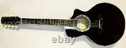 New Russian / Ukrainian Seven 7 String Guitar, Acoustic, utaway, Black, 390