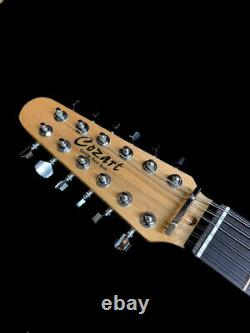 New Strat Style 12 String Vintage Pelham Blue Metallic Lefty Electric Guitar