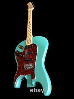 New Strat Style 6 String Flipped Reverse Backwards Seafoam Green Electric Guitar