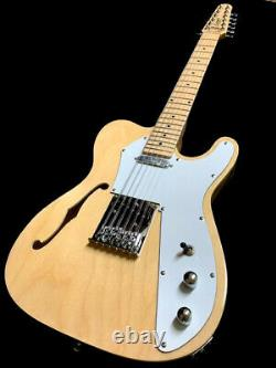 New Tele Style 12 String Semi-hollow Natural Maple Top Electric Guitar