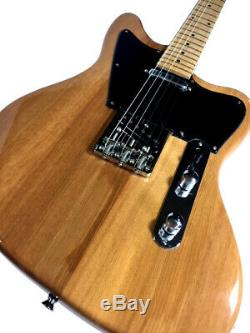 New Tele Style 6 String Offset Body Electric Guitar Natural Finish