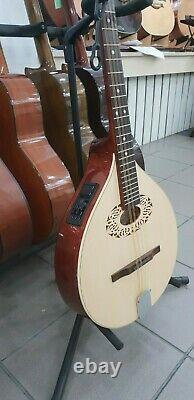 Octave mandolin+EQ electro, short scale Irish bouzouki, Hora Romania, solid wood