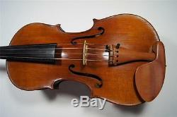 Old Antique Violin 4/4 France H. C. Silvestre Paris