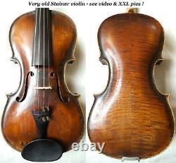 Old German Violin Stainer / Klotz- Video Antique Rare 252