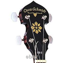 Oscar Schmidt OB5 5-String Closed Back Bluegrass Banjo, Natural