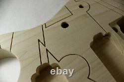Poplar Engraved JPM Guitar body fits Ibanez(tm) 6 string RG and Jem Necks