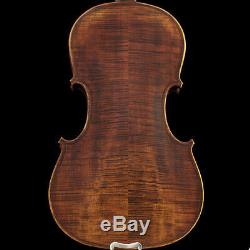 Professional Hand-made 4/4 Full Size Satin Acoustic Violin Antique Style Flamed