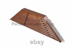Quality 9 Bridge Santoor Santour Santur Dulcimer with hard case and accessories