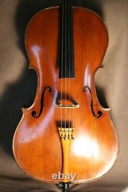 Rare Old Antique 18th French Century French Cello By Nicolas Chappuy Circa 1770