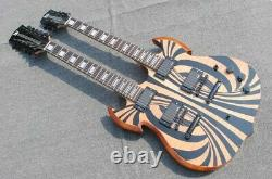 Rare Wylde Audio Barbarian 12 & 6 strings Double Neck SG Electric Guitar Chinese