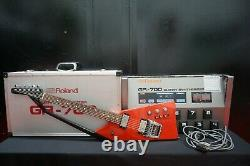 Roland G-707 Red With GR-700 1984 Vintage Guitar Synthesiser With Cable