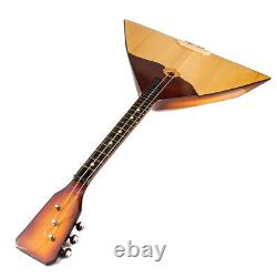 Russian Balalaika Real Musical Instrument Hand Painted 3 String Prima