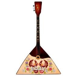 Russian Balalaika Real Musical Instrument Hand Painted Hand Painted
