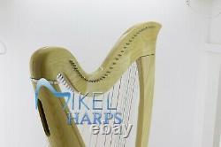 Saffron 38 Strings Lever Harp by Mikel Harps