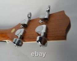 Satin Finish Clearwater Baritone Round Back Electro Acoustic Uke