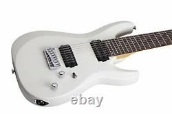 Schecter C-8 DELUXE Satin White 8-String Solid-Body Electric Guitar, Satin Whit