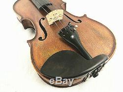 Special Edition- 4/4 Hand-Made Antique high flamed back Violin+Bow+Rosin+Case