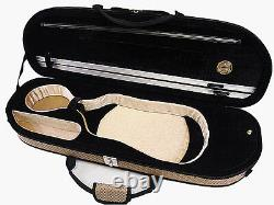 Special Pattern 4/4 Enhanced/Moon Shape Designed Violin Case +Violin String Set
