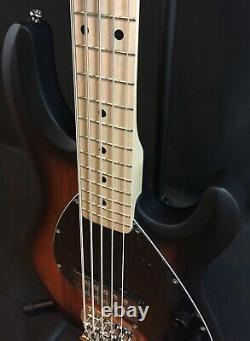 Sterling by Music Man StingRay Ray5 5-String Bass Guitar Vintage Sunburst Satin