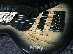 Swing Jazz 6 Black Burst 6 Strings Electric Bass Guitar